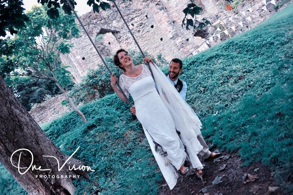 Swing bride and groom