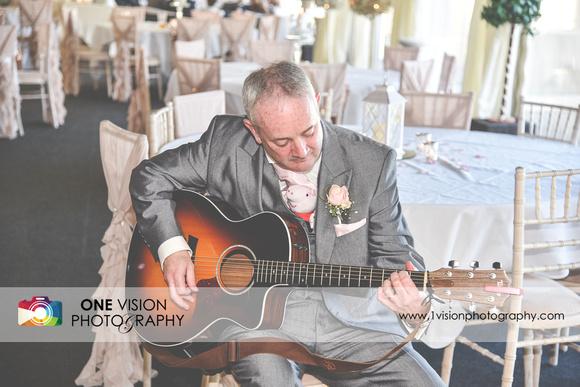 Father Playing Music Wedding