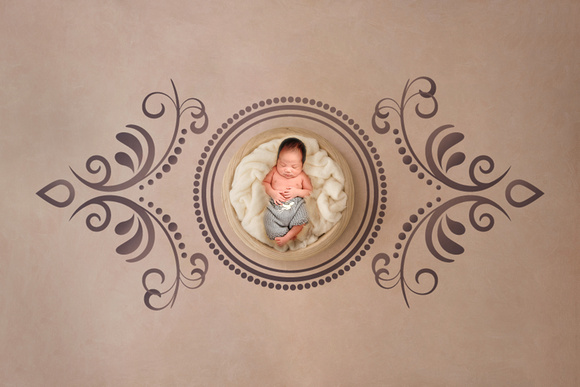 Lovely flower background for newborn baby, concept of newborn ba
