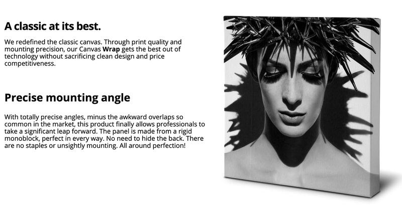 Canvas wrap Photoart Work