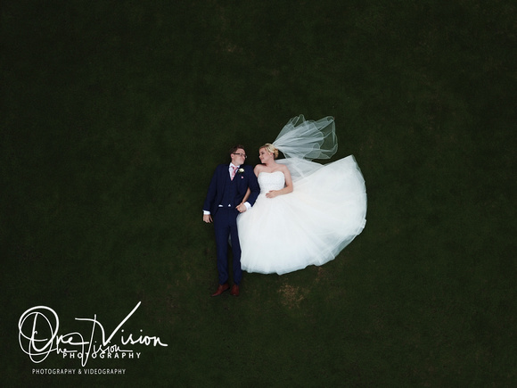 Bride and Groom Drone