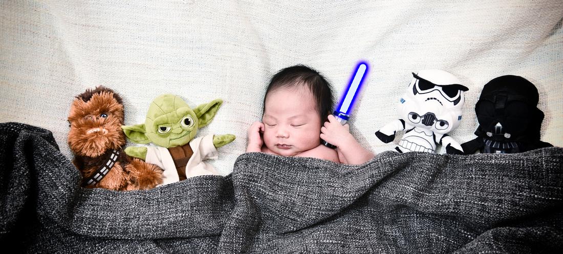 Theme newborn Starwars