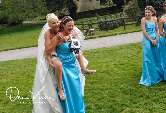 Having fun at wedding