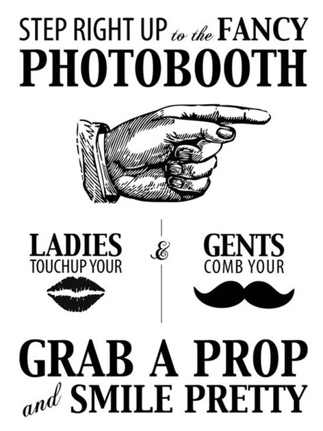 Booth Booth Sign